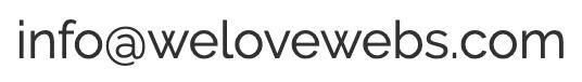 Correo electrónico de contacto de WeLoveWebs